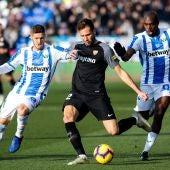 El 'Mudo' Vázquez, durante el partido contra el Leganés