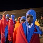 Migrantes rescatados por Salvamento Marítimo llegados a Motril