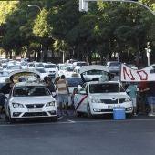Imagen de archivo: Taxistas manifestándose en contra de las VTC.