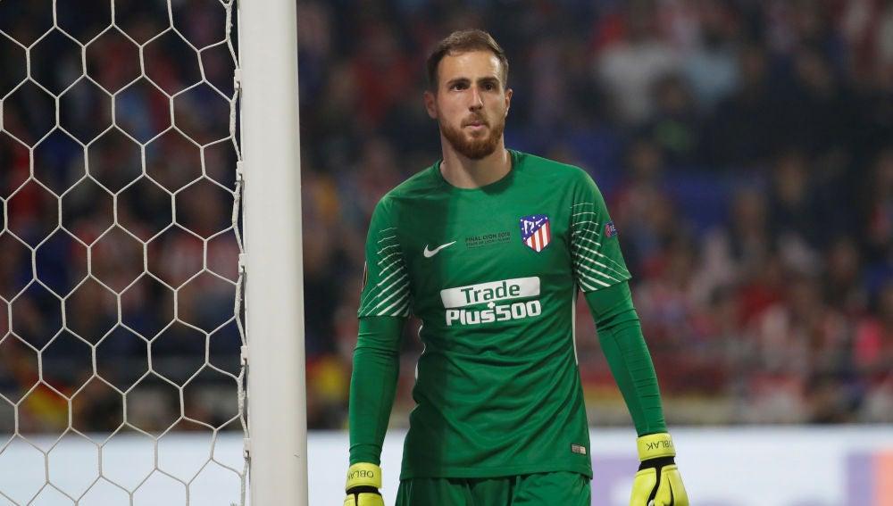 Jan Oblak, durante un partido con el Atlético de Madrid