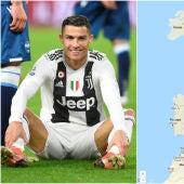 Cristiano Ronaldo y el mapa de todos sus goles