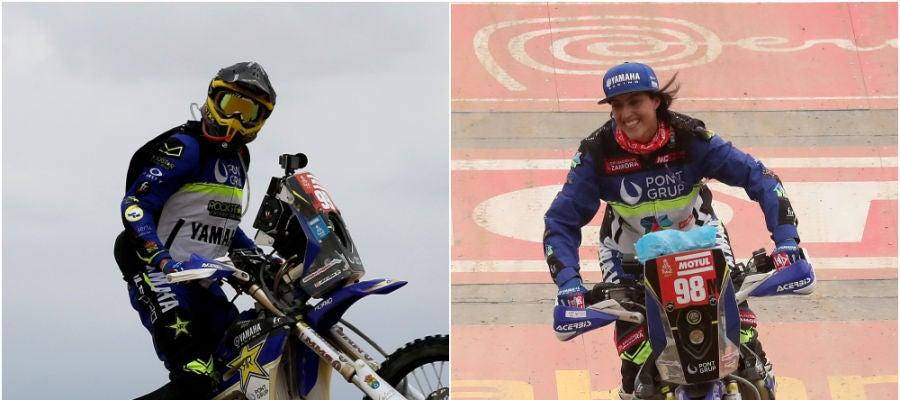 Javier y Sara, la pareja española del Dakar 2019