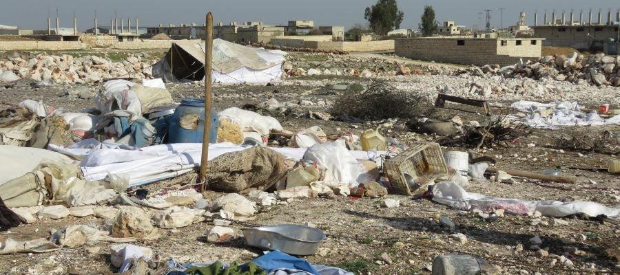 Campo de refugiados sirio