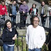 Miembros de la lista electoral de Xixón Sí Puede en las elecciones de 2015