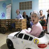 Niños del Hospital Materno Infantil en el programa Risopérate antes de entrar al quirófano