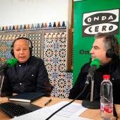 Javier Imbroda durante la entrevista con Carlos Alsina en Más de uno