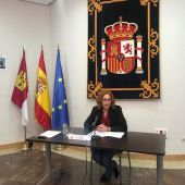 María Ángeles Herreros, durante la presentación de los PGE
