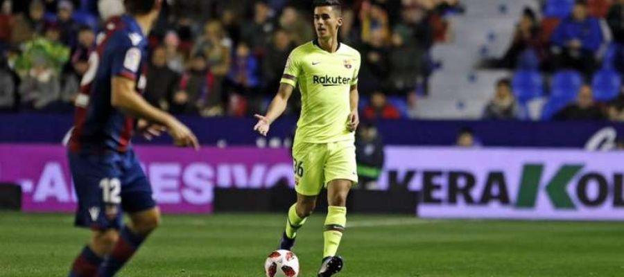 Juan Brandáriz, Chumi, durante el partido del Barça ante el Levante en Copa