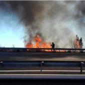 Archivo. Incendio cercano a la autovía A7