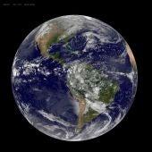 la Tierra captada por el satélite meteorológico GOES-East el 22 de abril de 2014
