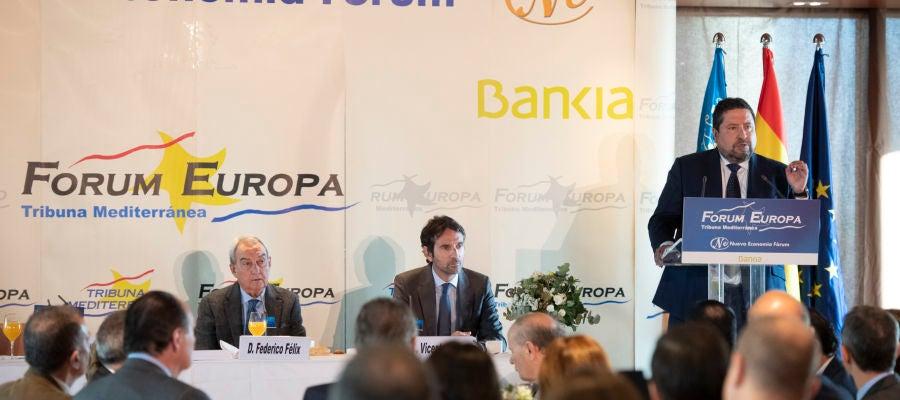 El presidente provincial, Javier Moliner, durante su intervención.