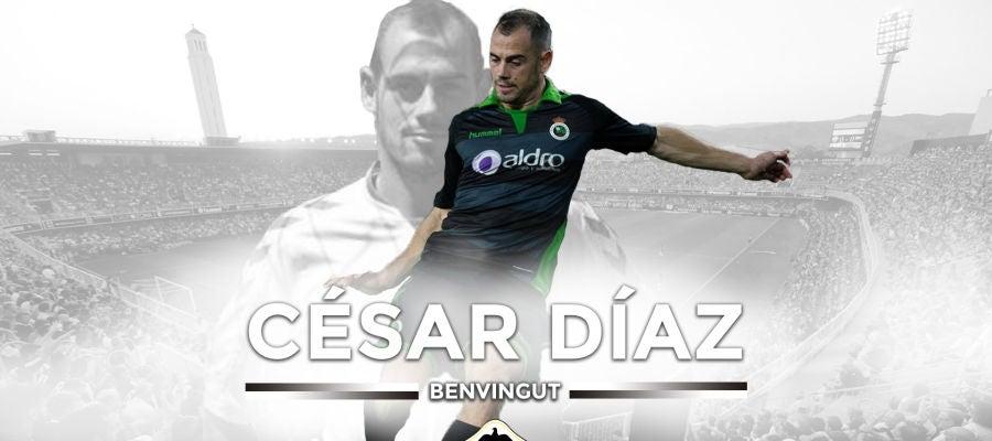 El delantero albinegro, César Díaz