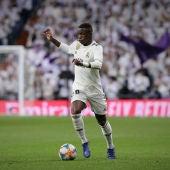 Vinicus Jr en un partido con el Real Madrid