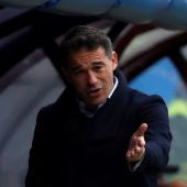 Luis García Plaza, durante un partido del Villarreal