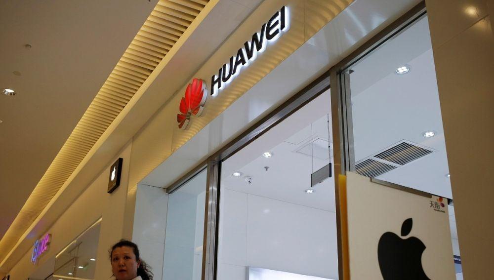 Imagen de una tienda de Huawei