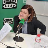 María José Sáenz de Buruaga junto a Javier Barbero