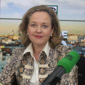 La ministra de Economía, Nadia Calviño, en Más de uno