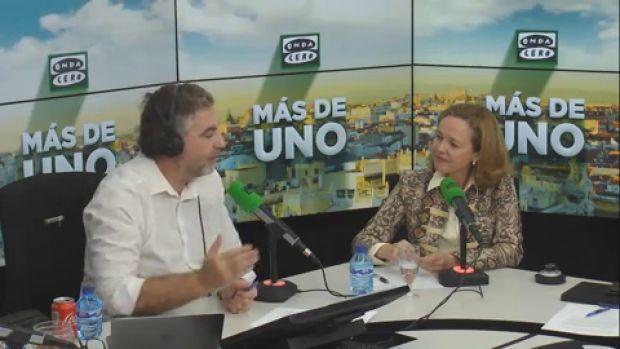 VÍDEO de la entrevista completa a Nadia Calviño en Más de uno