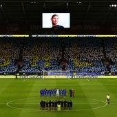 Homenaje a Emiliano Sala en el campo del Cardiff City