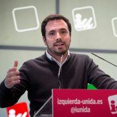 El coordinador general de Izquierda Unida, Alberto Garzón