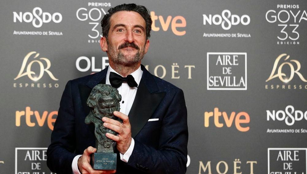 Luis Zahera, Mejor Actor de Reparto por 'El Reino'