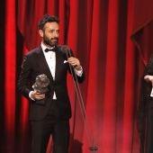 Rodrigo Sorogoyen tras recibir el Goya a Mejor dirección