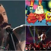 Maroon 5 y Bob Esponja, estrellas de la Super Bowl