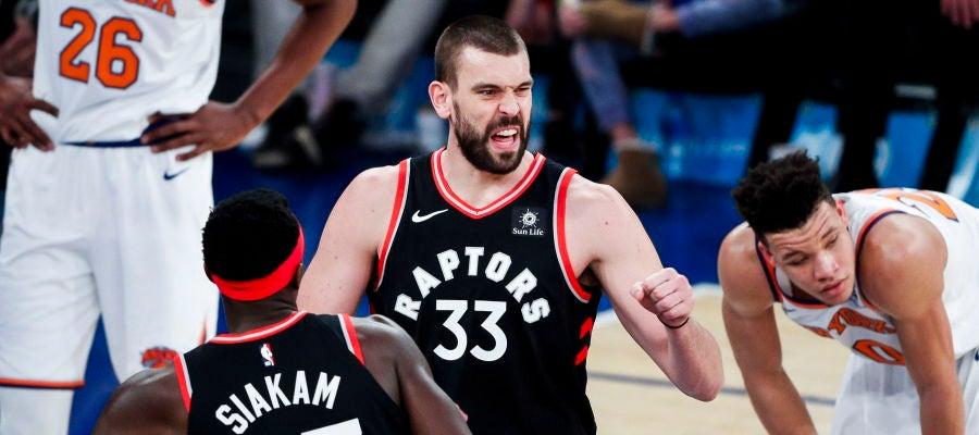 Marc Gasol, en su debut como jugador de los Toronto Raptors
