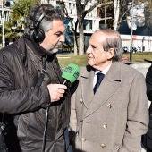 Carlos Alsina entrevistando a José María García