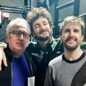 Julián López, Miki Esparbé y Leo Harlem