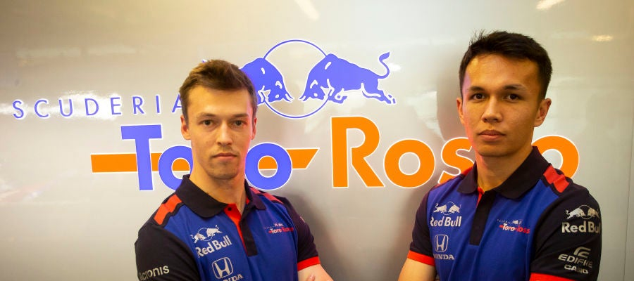 Alexander Albon y Daniil Kvyat, los pilotos de Toro Rosso
