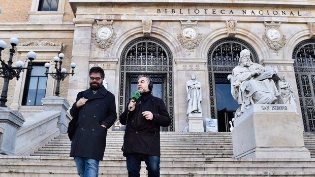 Sergio del Molino y Carlos Alsina en la Biblioteca Nacional