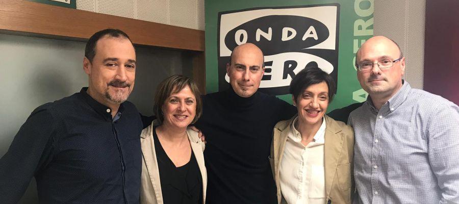 Óscar Briñas, Cecilia Romero, Javier Hortelano, Paz Parra y Julio Carpintero
