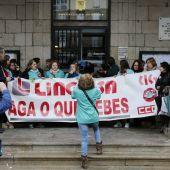 Protestas servicio limpieza colegios municipales