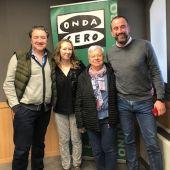 Los cocineros Koldo Royo y Margalida Alemany en compañía de José Luis Mateo y Elka Dimitrova en Onda Cero Mallorca.