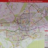 Nuevo mapa de transportes de Alcalá de Henares