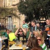 Aficionados del Celtic en València