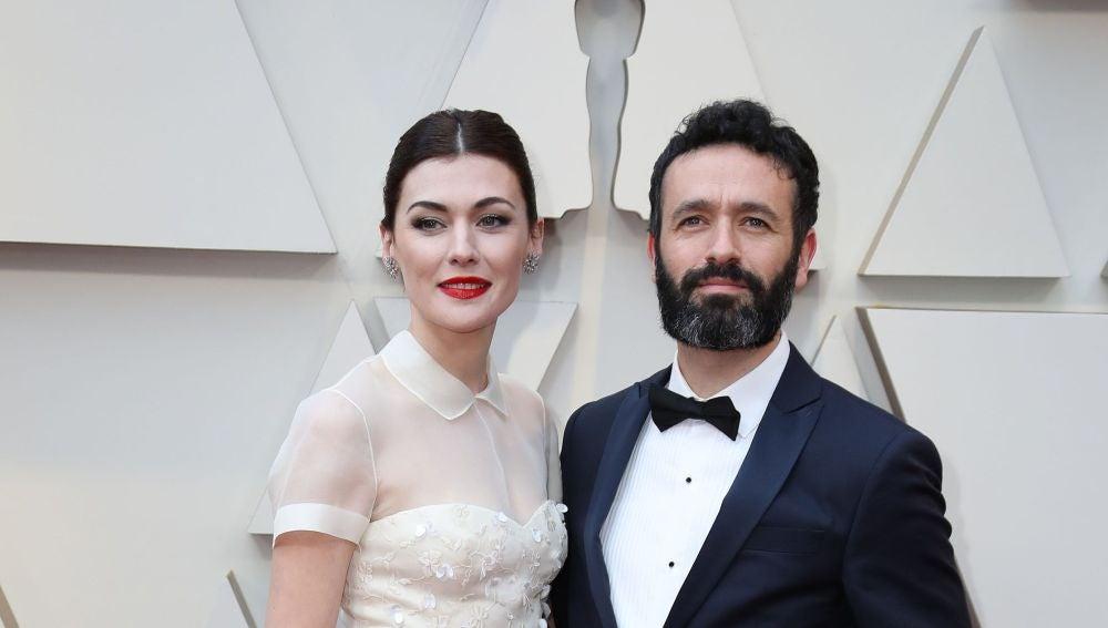 La actriz española Marta Nieto y el director español Rodrigo Sorogoyen