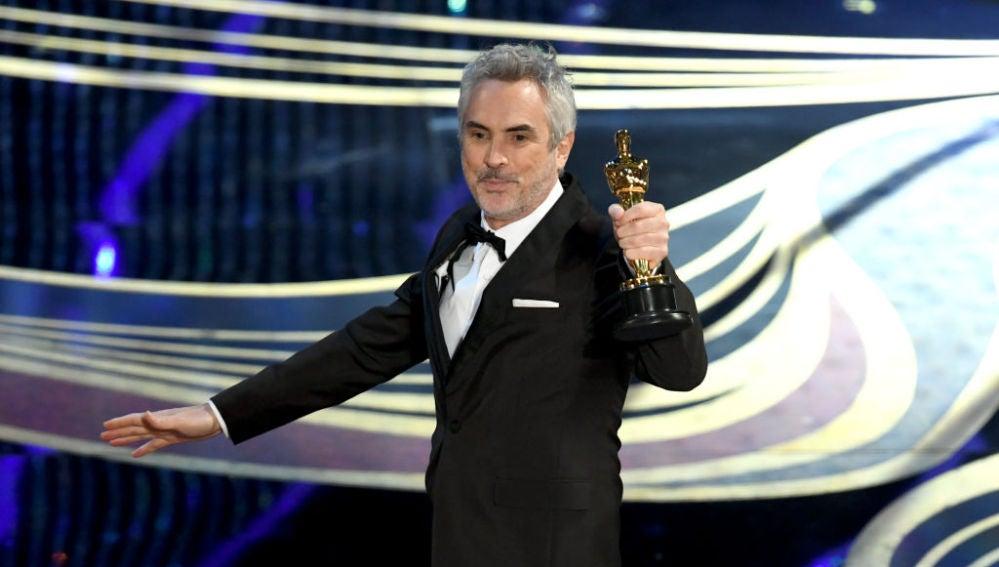 El mexicano Alfonso Cuarón en la gala de los Oscar 2019