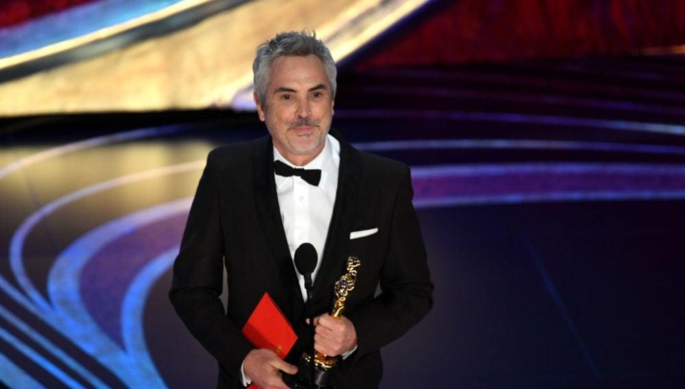 Alfonso Cuarón recoge el Oscar al Mejor Director por 'Roma'