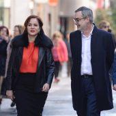 Silvia Clemente con Villegas