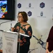 Nieto-Márquez y Martínez, durante la presentación del Carnaval de C.Real