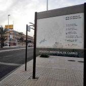 Uno de los accesos al polígono industrial de Carrús