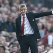 El entrenador del Manchester United, Solksjaer.