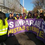 Cabecera de la manifestación del 8 de marzo en Madrid