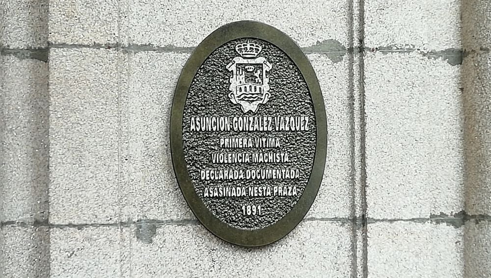 Placa en homenaxe a Asuncion Gonzalez