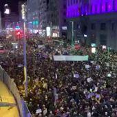 Miles de personas toman las calles en Madrid en la huelga del 8 de marzo