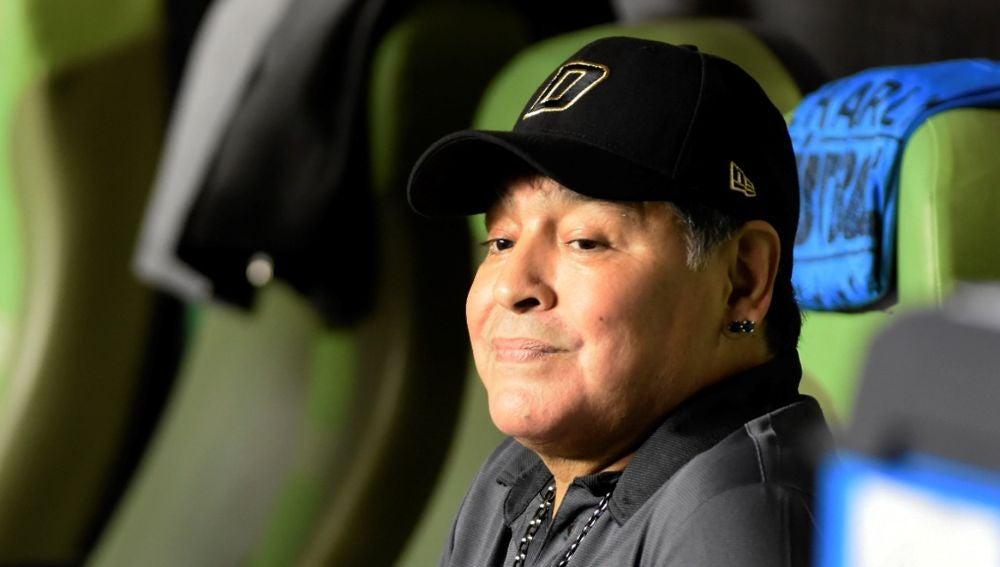 Diego Armando Maradona, durante un partido
