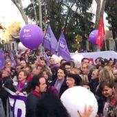 Así es la cabecera de la manifestación que comienza en Atocha
