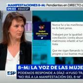 Carolina Bescansa, diputada de Podemos, en Espejo Público